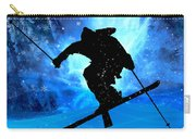 Winter Landscape And Freestyle Skier Carry-all Pouch