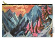 Winter Landscape In Moonlight Carry-all Pouch by Ernst Ludwig Kirchner
