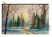 Winter Landscape Knowlton Quebec Carry-all Pouch