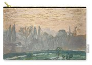 Winter Landscape With Evening Sky Carry-all Pouch