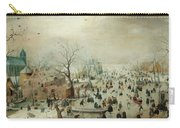 Winter Landscape With Ice Skaters1608 Carry-all Pouch