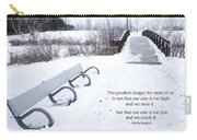 winter landscape with Inspirational Text Carry-all Pouch