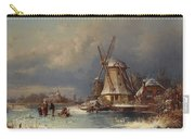 Winter Landscape With Mills Zaardam Carry-all Pouch