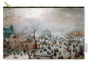Winter Landscape With Skaters Carry-all Pouch
