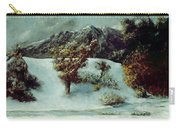 Winter Landscape With The Dents Du Midi Carry-all Pouch by Gustave Courbet