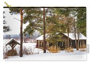 Winter Log Cabin 3 - Paint Carry-all Pouch