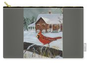 Winter Male Cardinal Carry-all Pouch