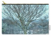 Winter Mimosa Painterly Carry-all Pouch