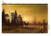 Winter Moose Statue Carry-all Pouch