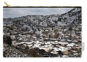Winter Mountain Village Landscape With Snow Carry-all Pouch