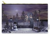 Winter Night Scene Carry-all Pouch