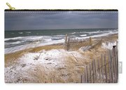 Winter On Cape Cod Sandy Neck Beach Carry-all Pouch
