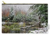 Winter On The Beaver Pond Carry-all Pouch