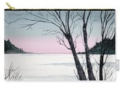 Winter On The Lake Carry-all Pouch