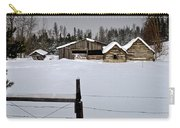 Winter On The Ranch Carry-all Pouch