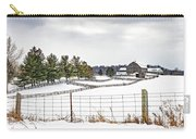 Winter Ontario Farm 3 Carry-all Pouch