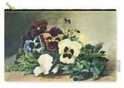 Winter Pansies Carry-all Pouch