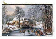 Winter Pastime, 1870 Carry-all Pouch by Granger
