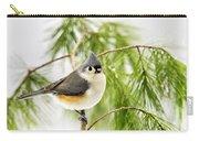 Winter Pine Bird Carry-all Pouch