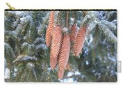 Winter Pine Cones Carry-all Pouch