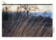 Winter Prairie Grass At Dusk Carry-all Pouch