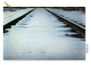 Winter Railroad Tracks Carry-all Pouch