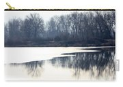 Winter Reflection On The Yakima River Carry-all Pouch