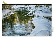 Winter River Reflections - Yellowstone Carry-all Pouch