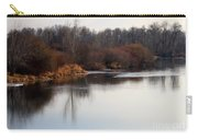 Winter Riverbank Carry-all Pouch