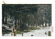 Winter Rural Pathway Carry-all Pouch