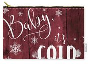Winter Rustic Wood Sign Carry-all Pouch