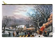 Winter Scene: Evening 1854 Carry-all Pouch