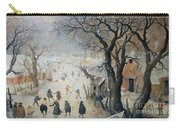 Winter Scene Carry-all Pouch by Hendrik Avercamp