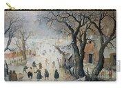 Winter Scene Carry-all Pouch by Hendrik Avercamp
