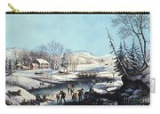 Winter Scene: Morning 1854 Carry-all Pouch