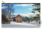 Winter Scene On A Pennsylvania Farm Carry-all Pouch