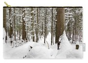 Winter Scene Print Carry-all Pouch