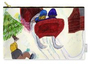 Winter Sleigh Ride Through The Tunnel Carry-all Pouch