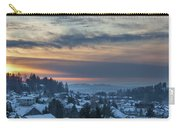 Winter Snow At Sunset In Happy Valley Oregon  Carry-all Pouch