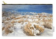 Winter Snowstorm Blankets The Alabama Hills California Carry-all Pouch