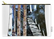 Winter Stairs In Blue Carry-all Pouch