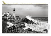 Winter Storm At Portland Head Carry-all Pouch