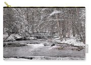 Winter Stream And Woods Carry-all Pouch