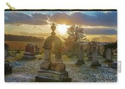 Winter Sundown In Graveyard Carry-all Pouch