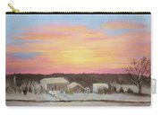Winter Sunrise On The Farm Carry-all Pouch