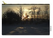 Winter Sunrise Shadows Carry-all Pouch