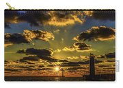 Winter Sunset At Muskegon Channel Light Carry-all Pouch