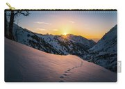 Winter Sunset Over Little Cottonwood Canyon Carry-all Pouch