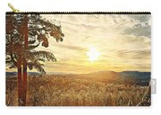 Winter Sunset Over The Mountains Carry-all Pouch