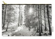 Winter Sunshine Forest Shades Of Gray Carry-all Pouch